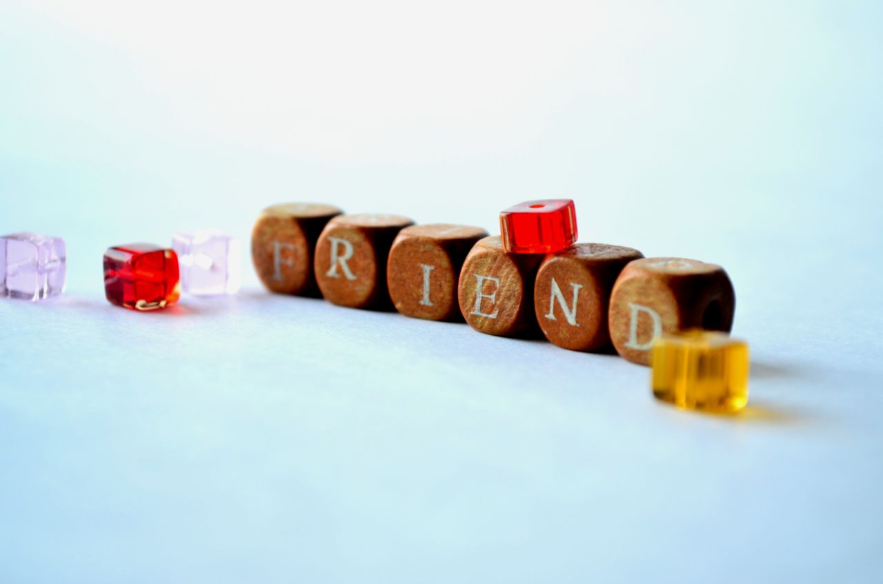 "Free photo ""Friend Letter Beads"""