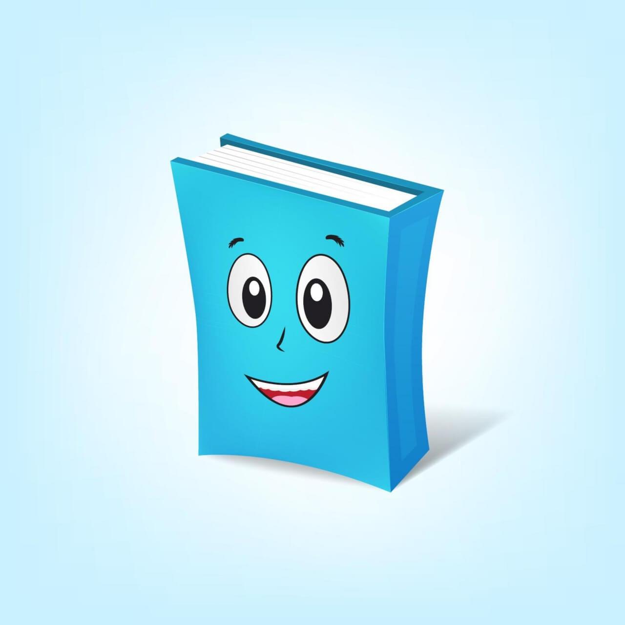 "Free vector ""Book Cartoon Character"""