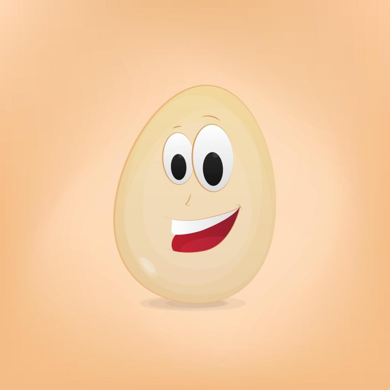 "Free vector ""Egg Cartoon Character"""