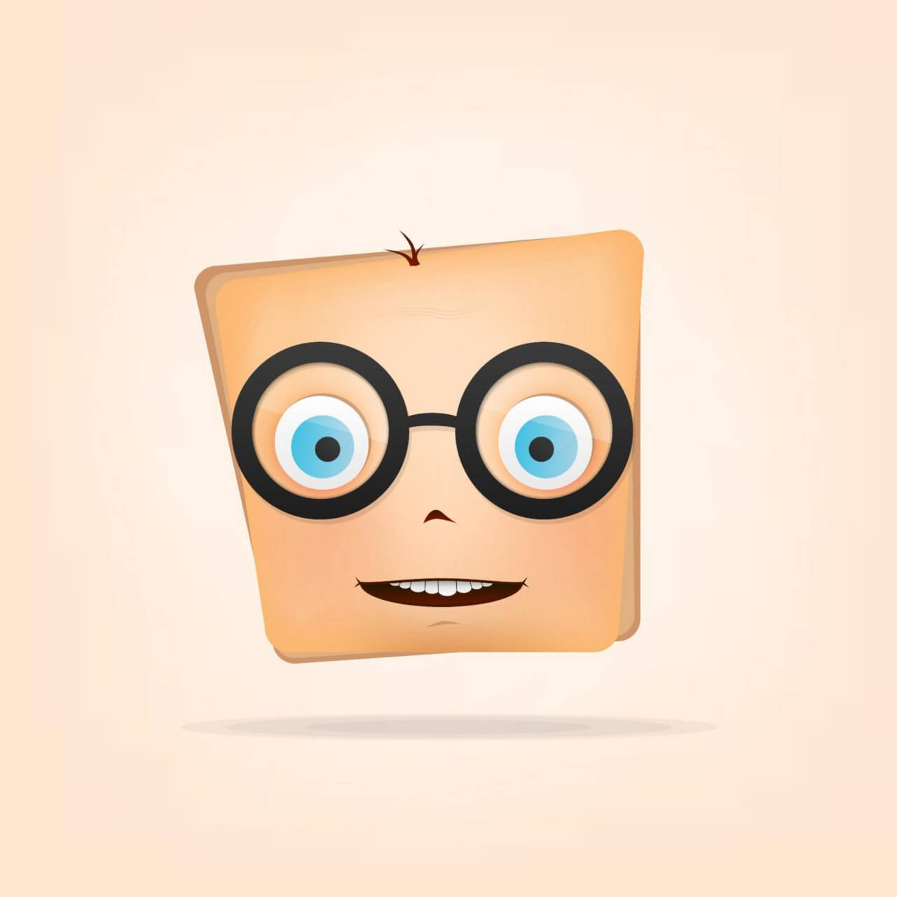 "Free vector ""Character with Glasses"""