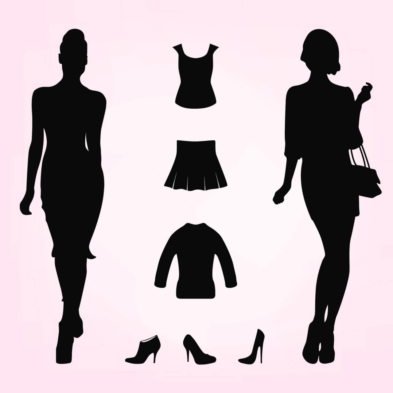 fashion silhouette description - HD1280×1280