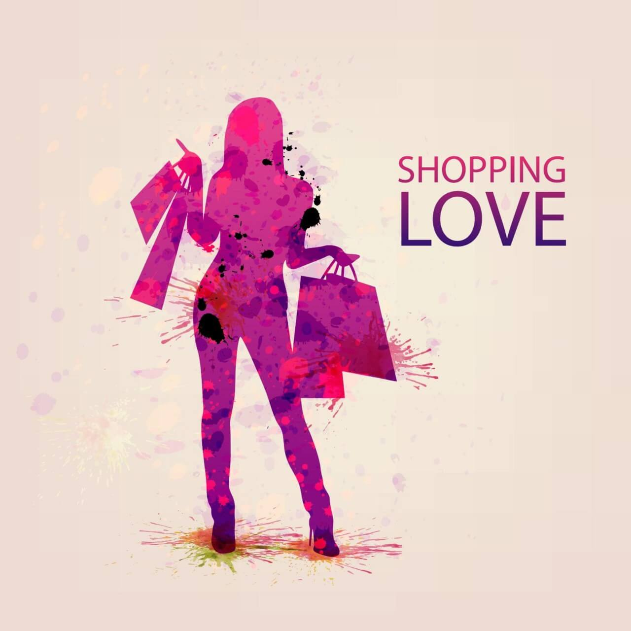 "Free vector ""Shopping Vector Illustration"""