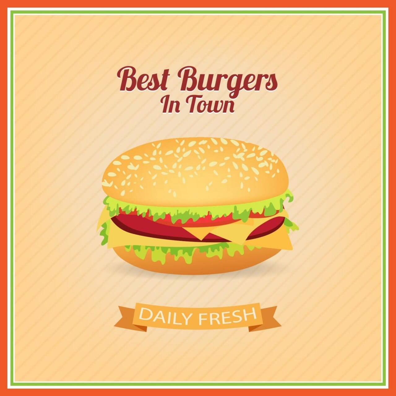 "Free vector ""Burger Illustration"""