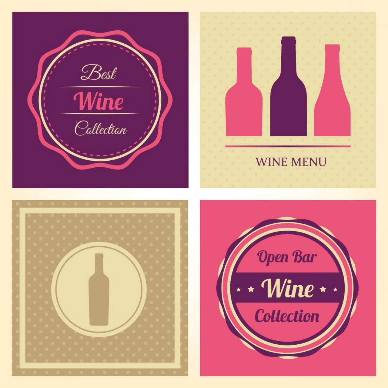 "Free vector ""Vector Wine Labels"""