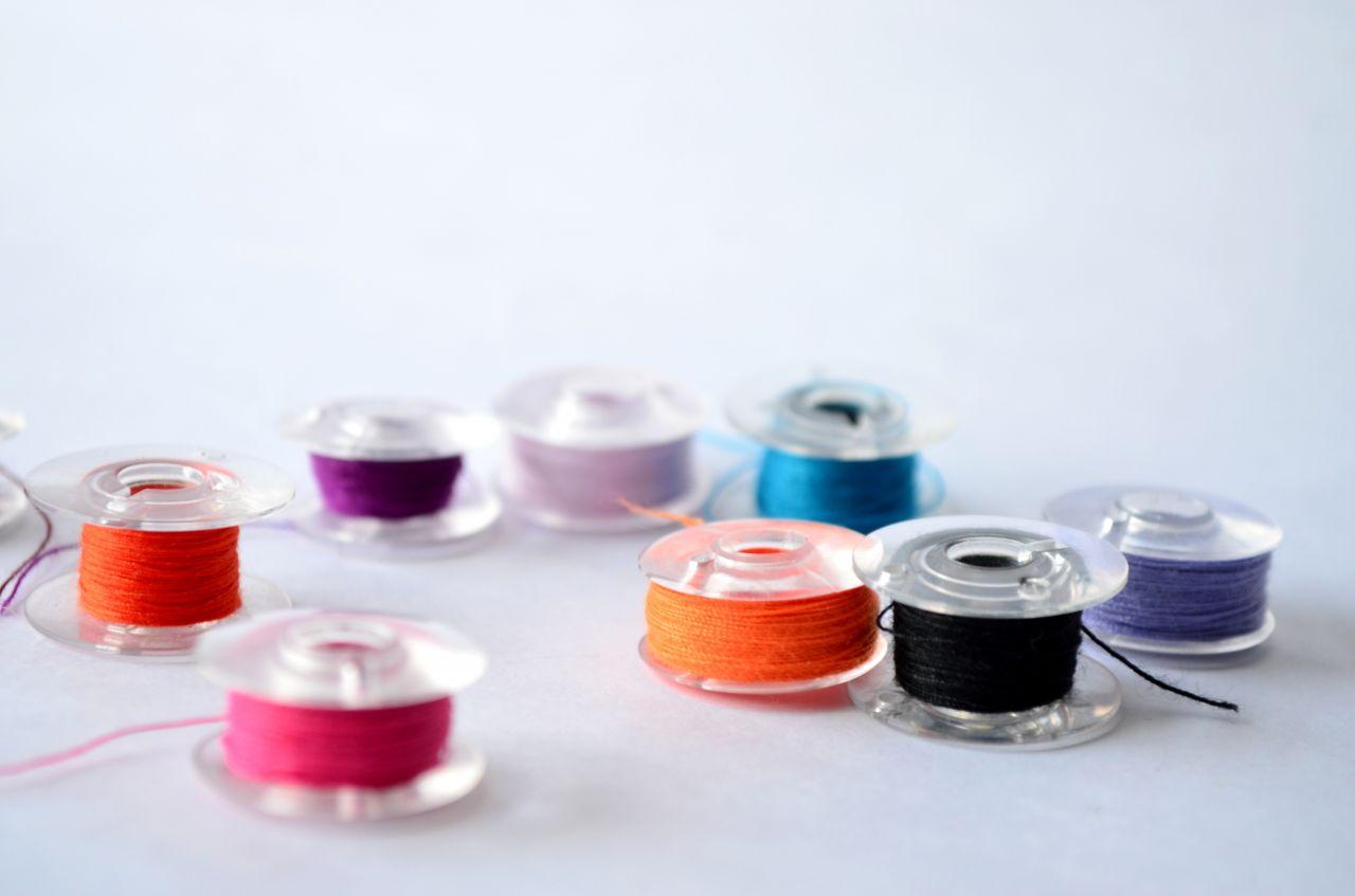 "Free photo ""Spools Thread Sewing Machine"""
