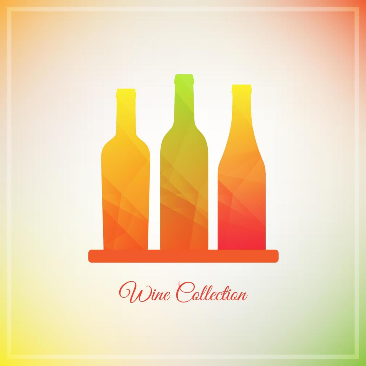 "Free vector ""Vector Wine Bottles """
