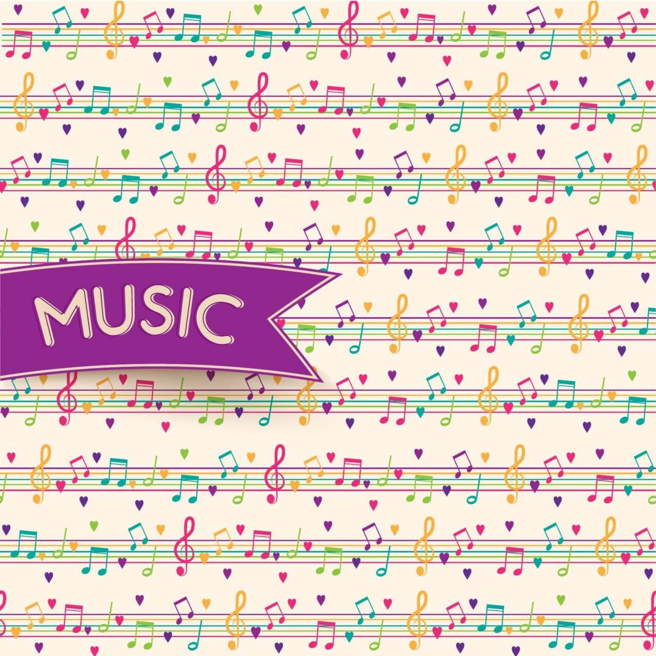 "Free vector ""Vector Music Background"""