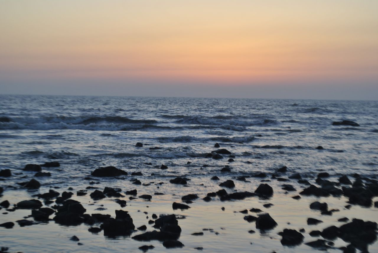 "Free photo ""Sunset Waves Seashore"""
