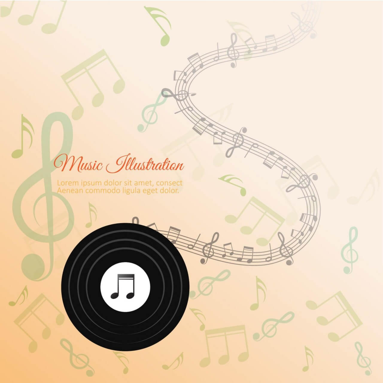 "Free vector ""Abstract Music Background"""