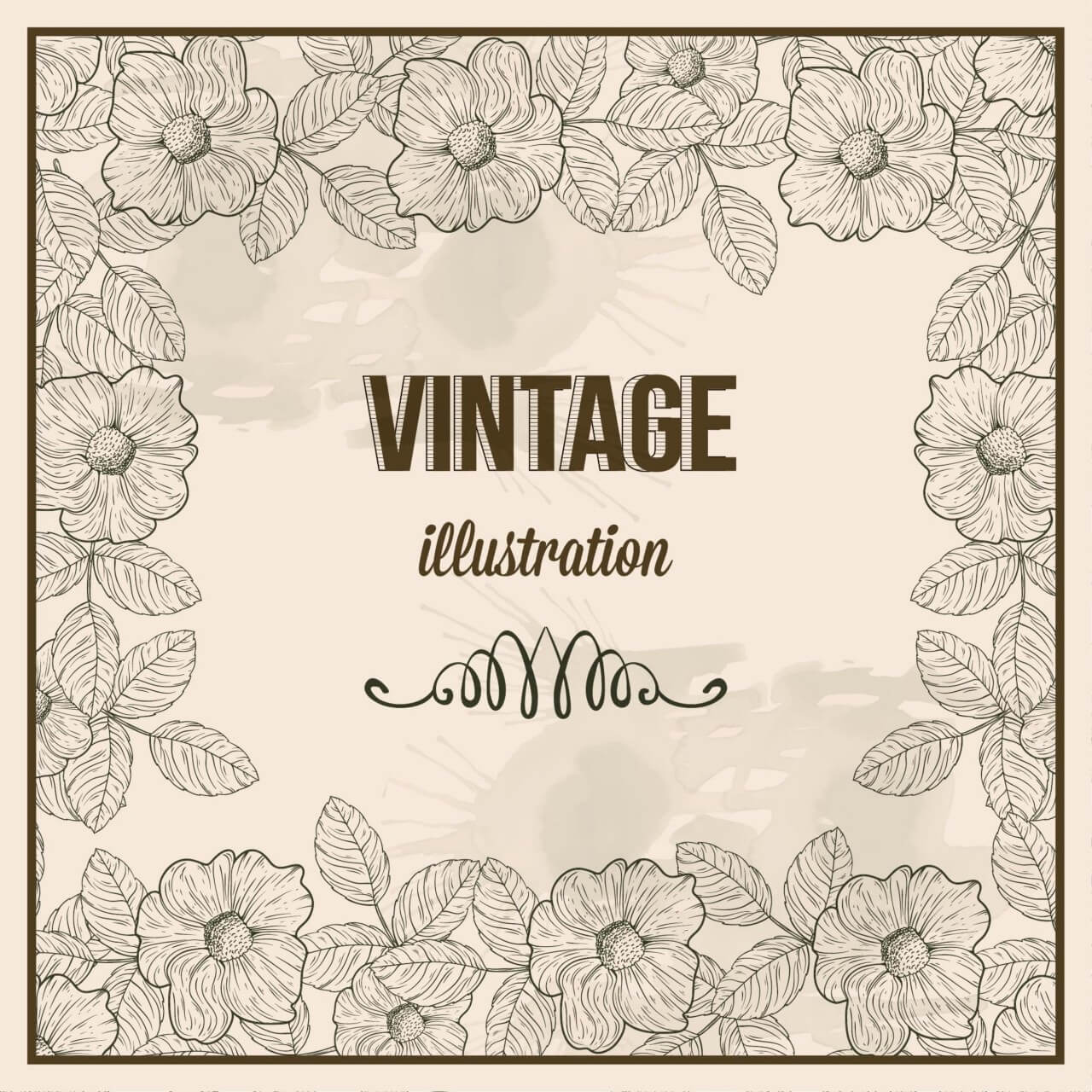 "Free vector ""Vintage frame with typography"""