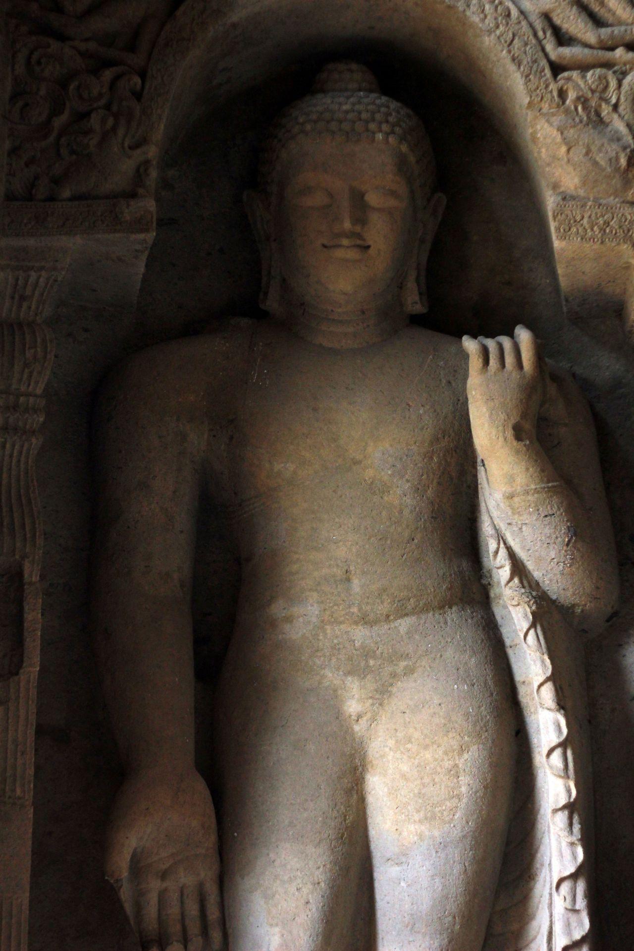"""Free photo """"Buddha Mumbai Caves"""""""