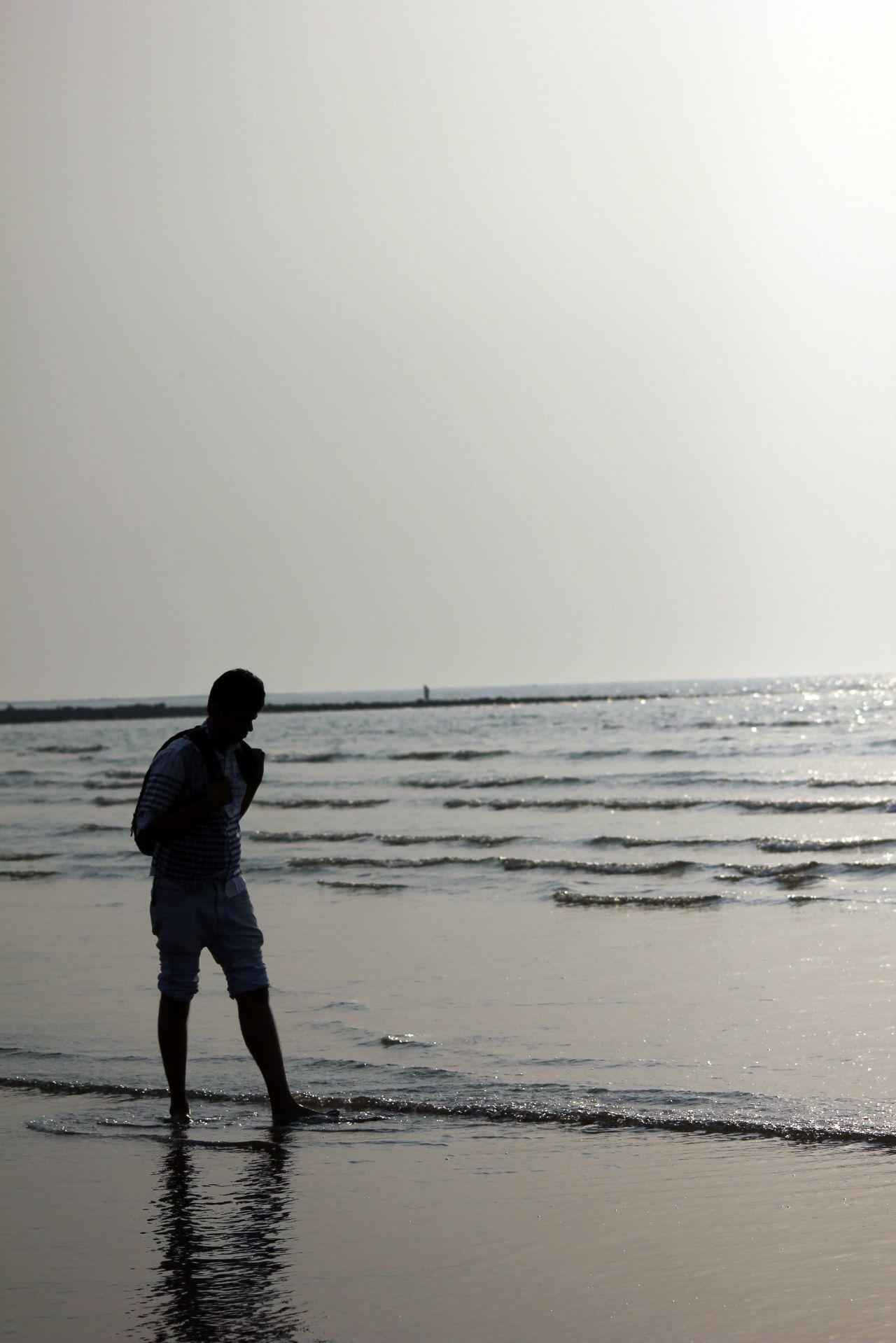 "Free photo ""Thinking Man Beach"""