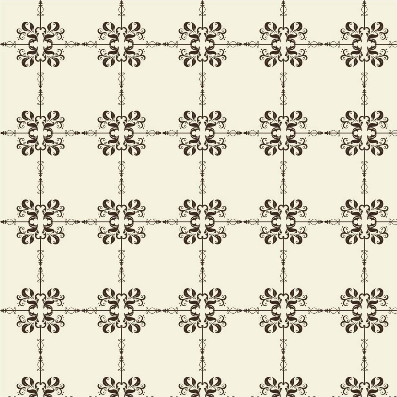 "Free vector ""Damask seamless pattern """