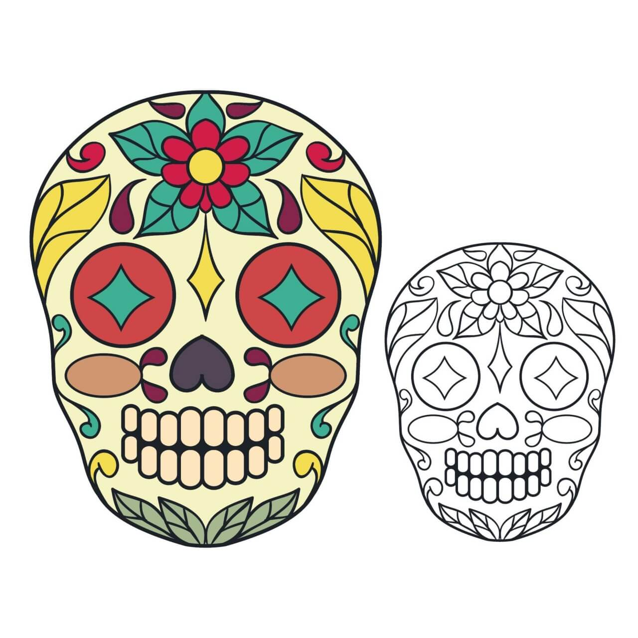 "Free vector ""Vector sugar skull illustration"""