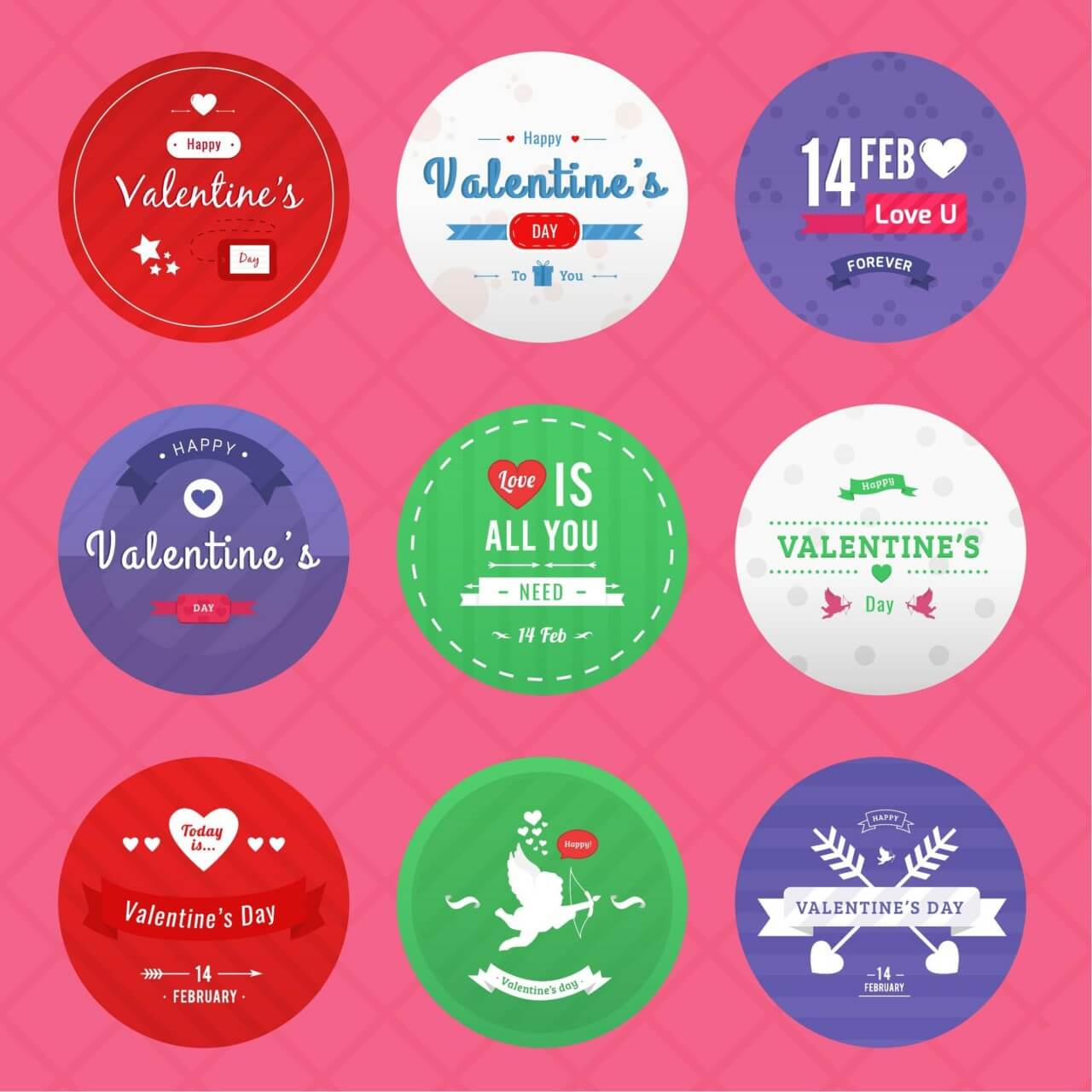 "Free vector ""Valentine's Day Icon Pack"""