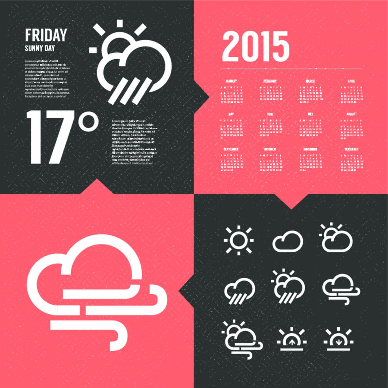 "Free vector ""Weather Background with Icon set"""