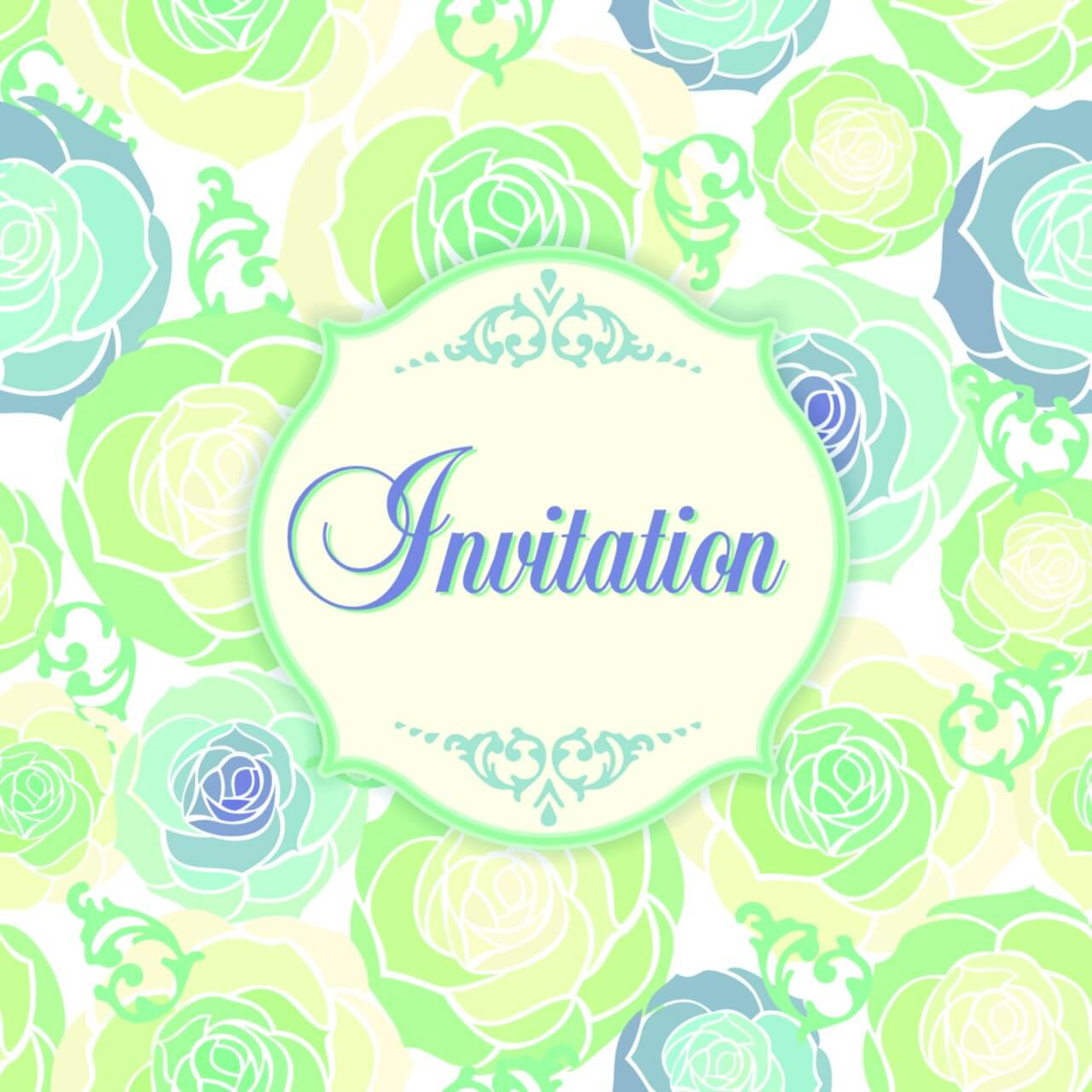 "Free vector ""Invitation template with floral background"""