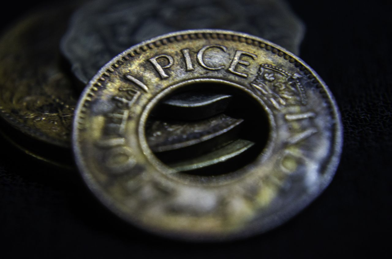 "Free photo ""Coin With Hole"""