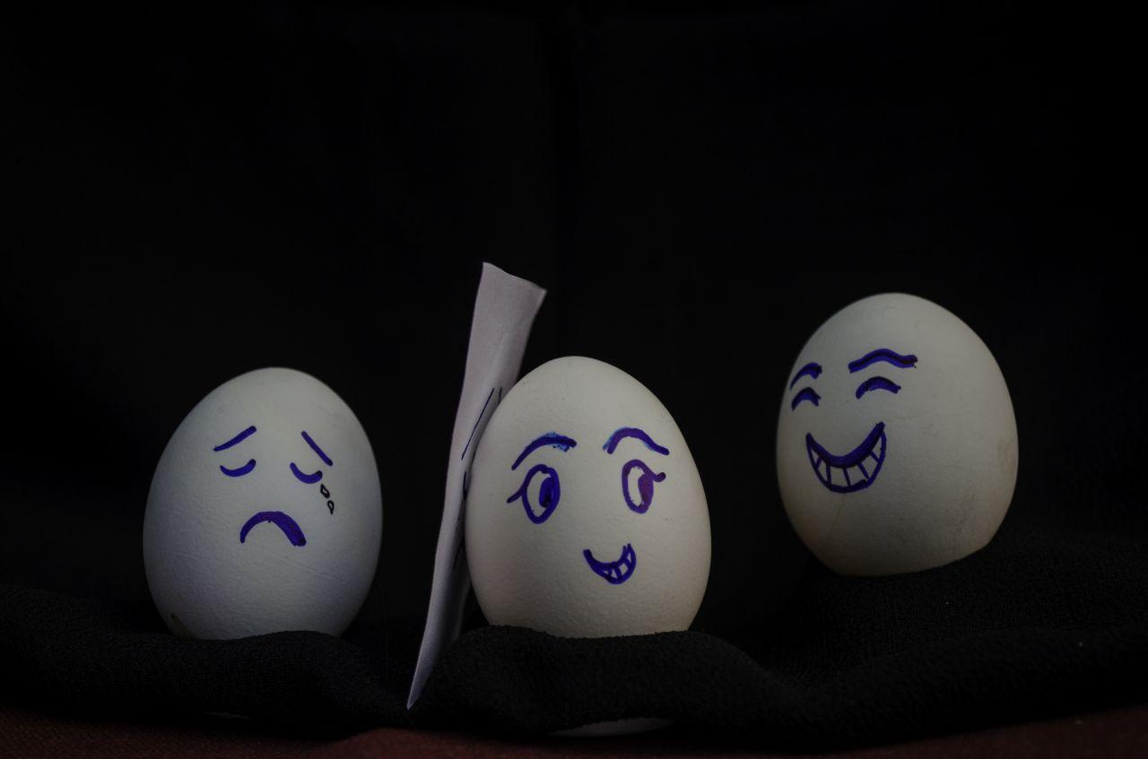 "Free photo ""Eggs Happy Sad Cry"""