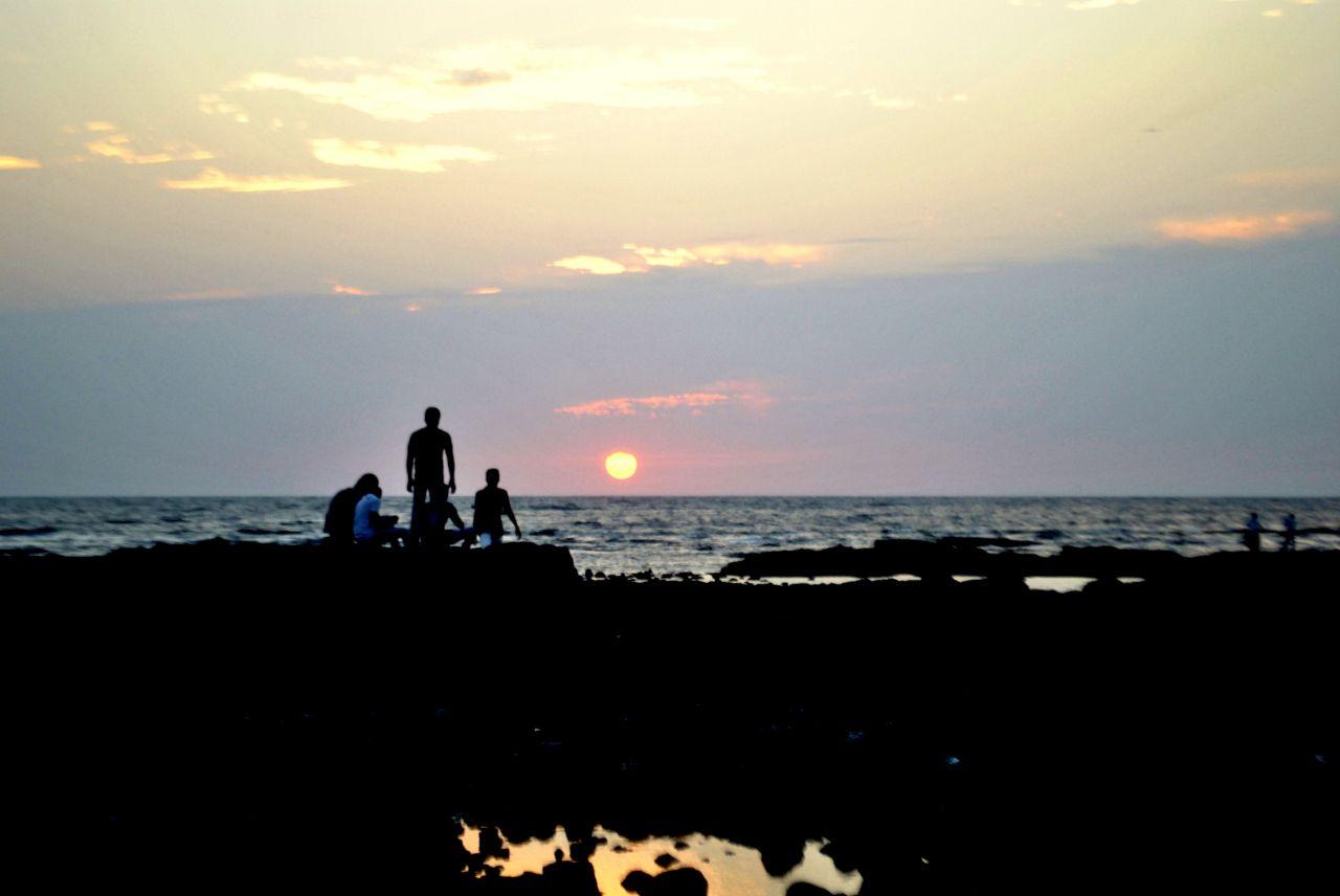 """Free photo """"Friends Sunset Rocks"""""""