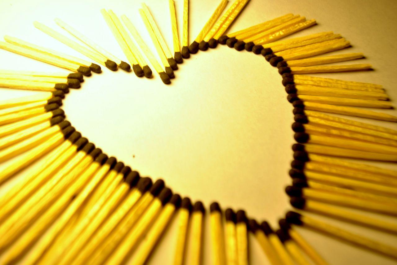"""Free photo """"Heart Matchstick Design"""""""