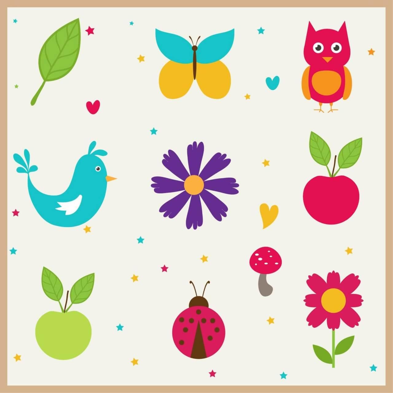 "Free vector ""Cute doodle nature elements"""
