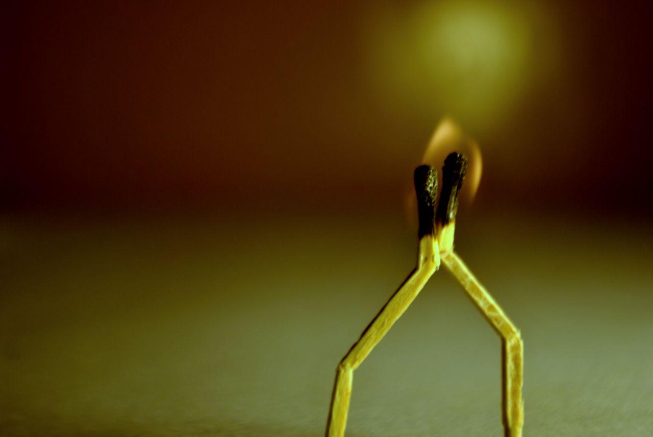 "Free photo ""Matchstick Love Burning"""