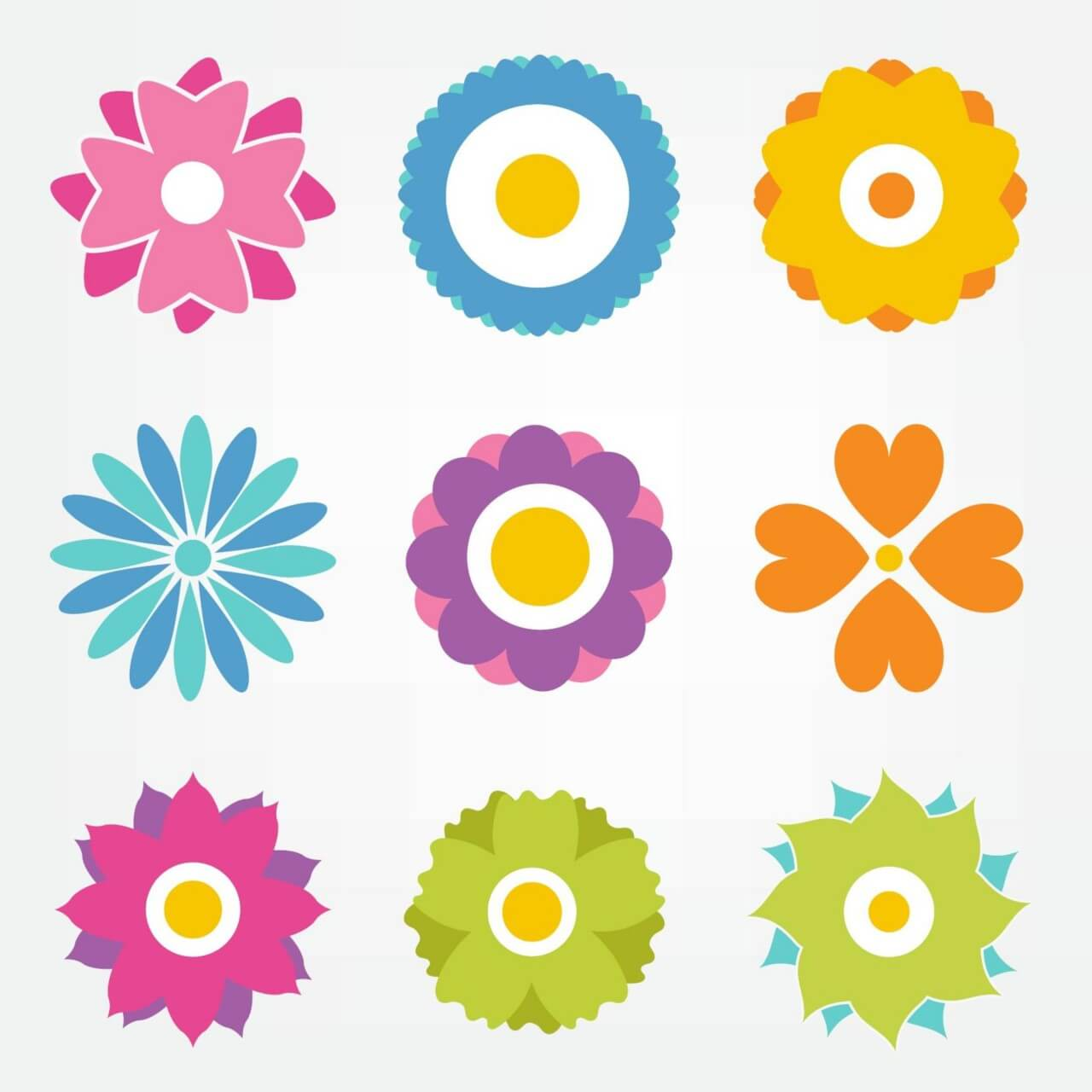 "Free vector ""Flower vector set"""