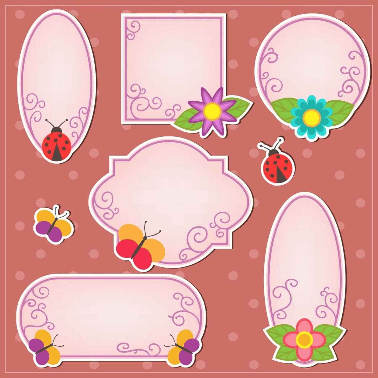 "Free vector ""Cute doodle frames"""