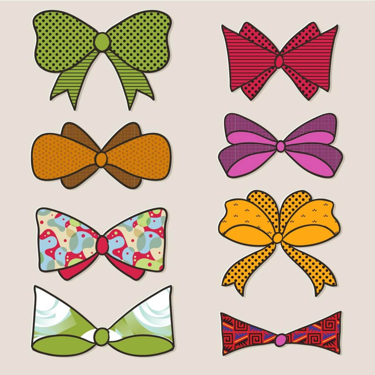 "Free vector ""Bow vector set """