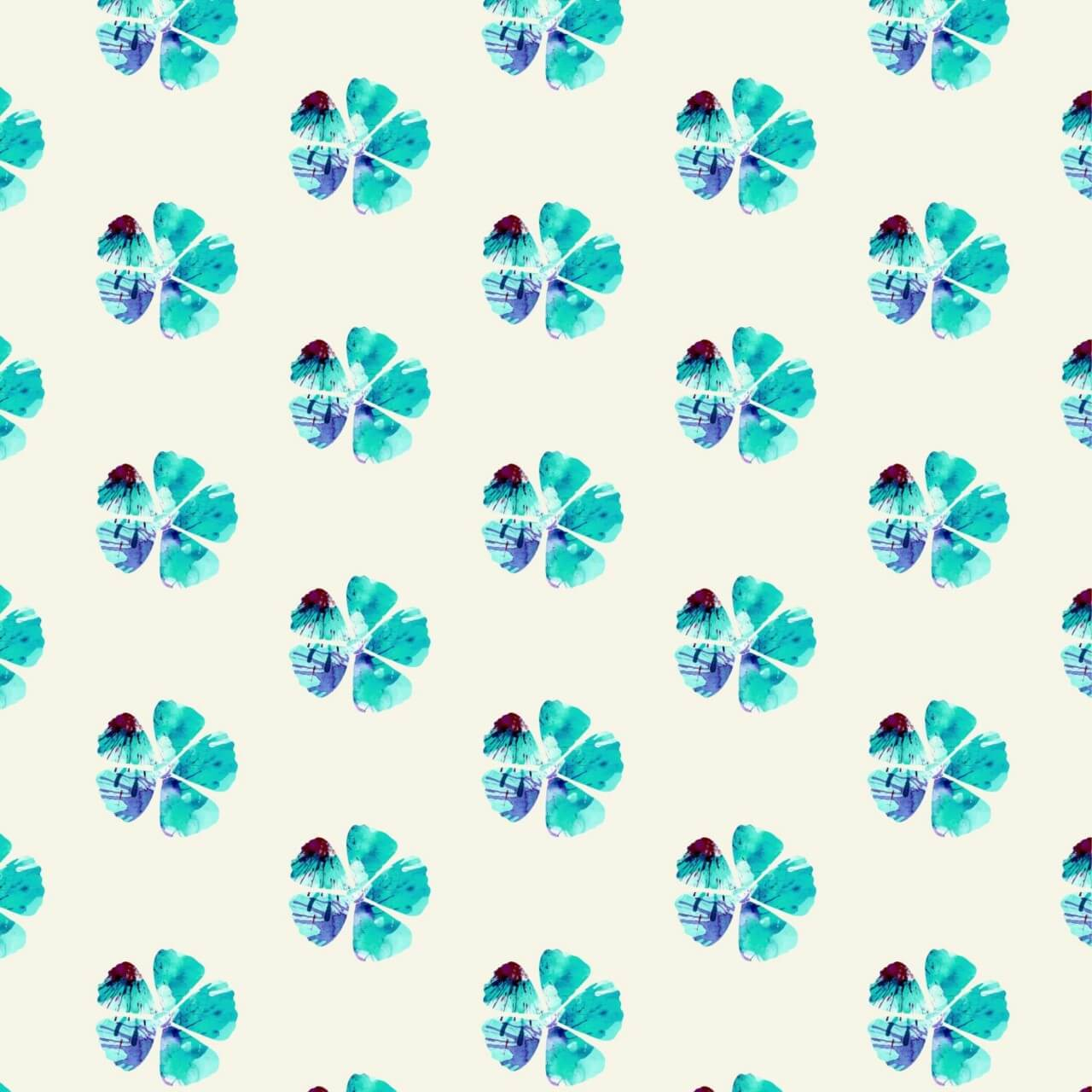 """Free vector """"Watercolor floral pattern"""""""