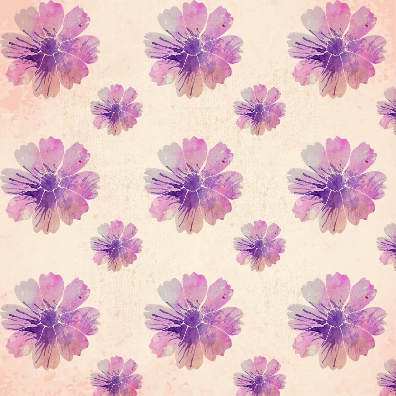 "Free vector ""Watercolor floral pattern"""