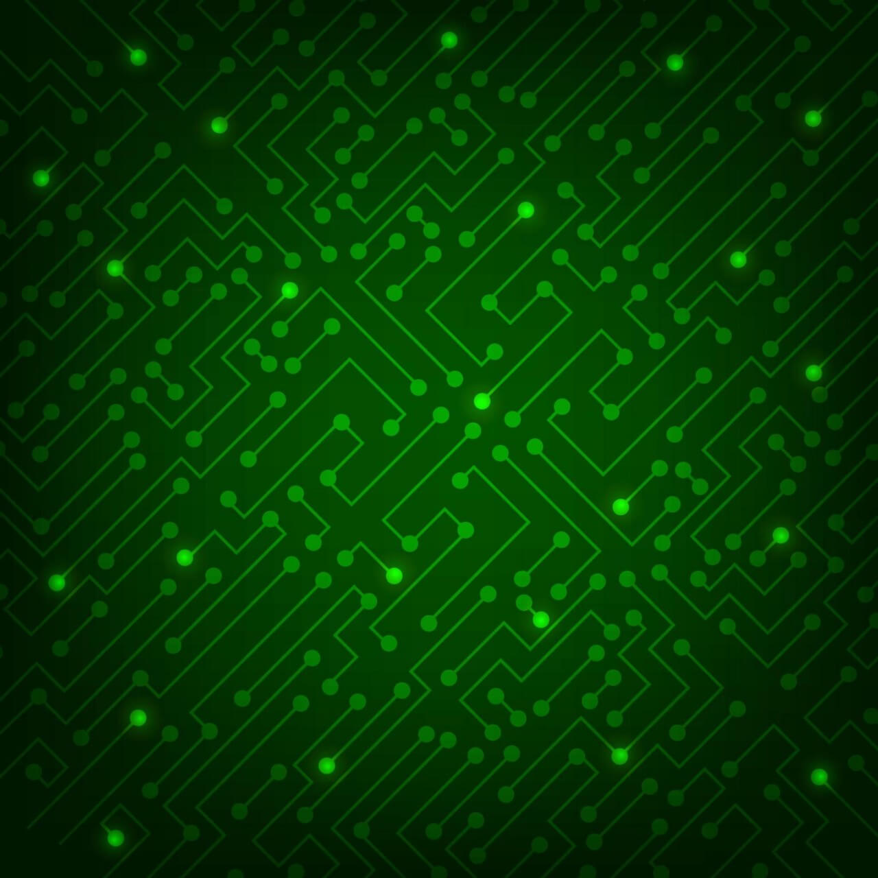 "Free vector ""High tech abstract green background"""