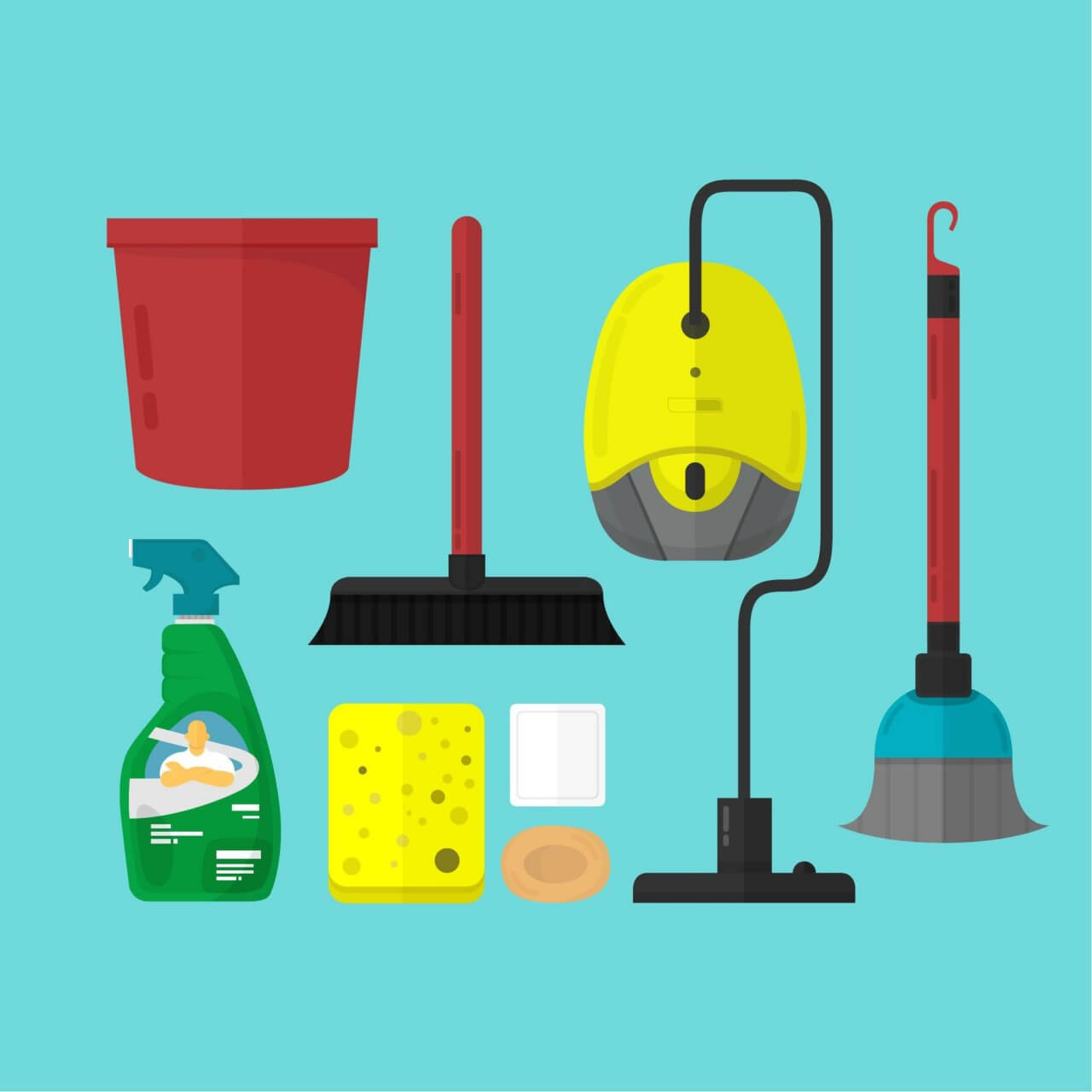 "Free vector ""Cleaning Toolset"""
