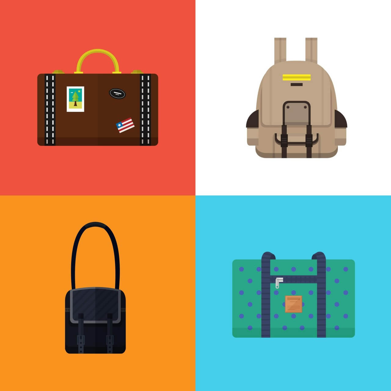 """Free vector """"Bags and Suitcases"""""""