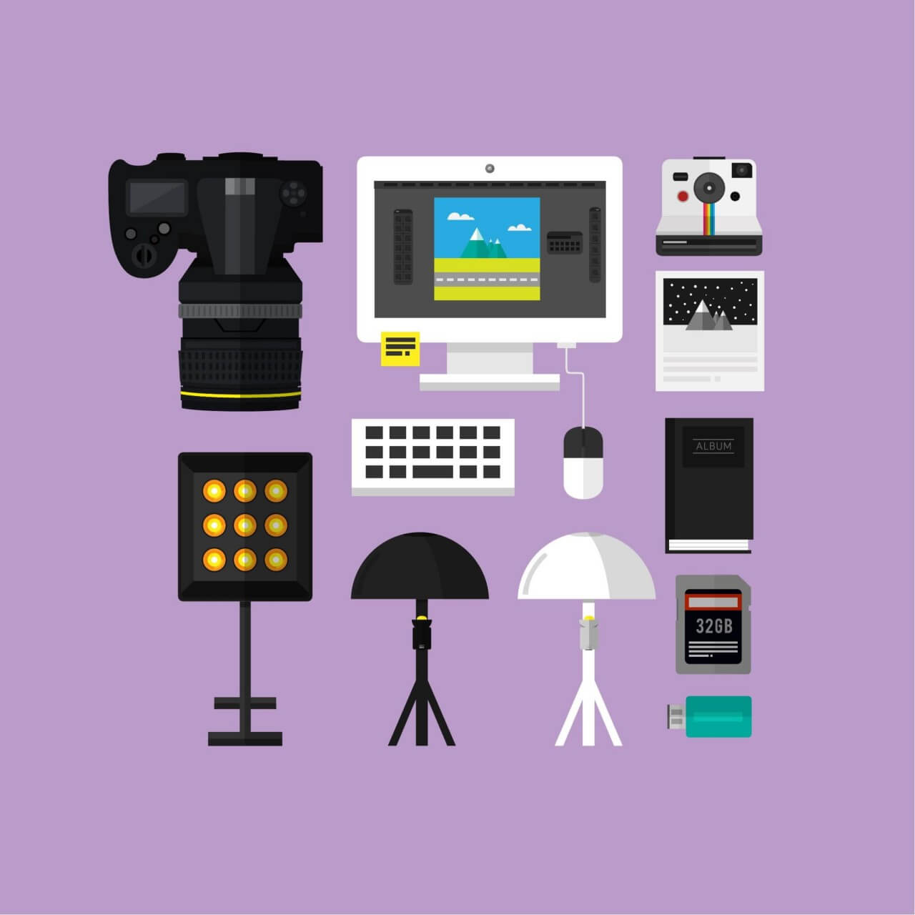 """Free vector """"Essential Photograpy Toolset"""""""