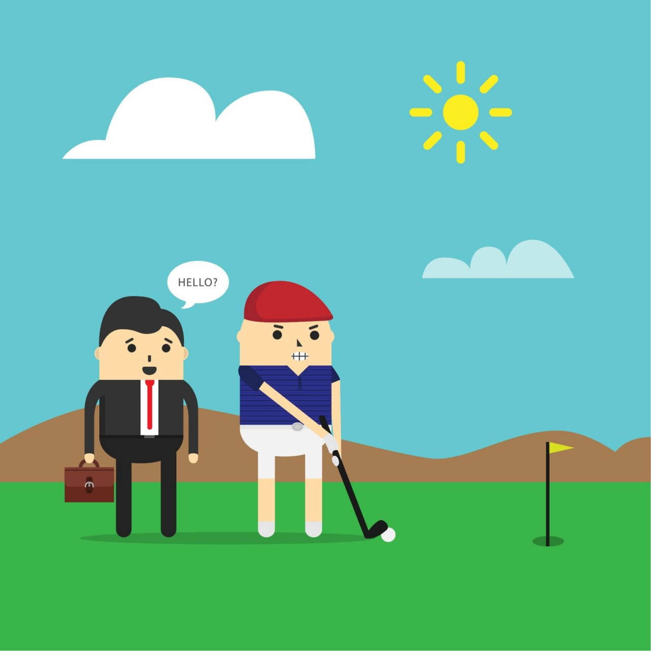 """Free vector """"Playing golf"""""""