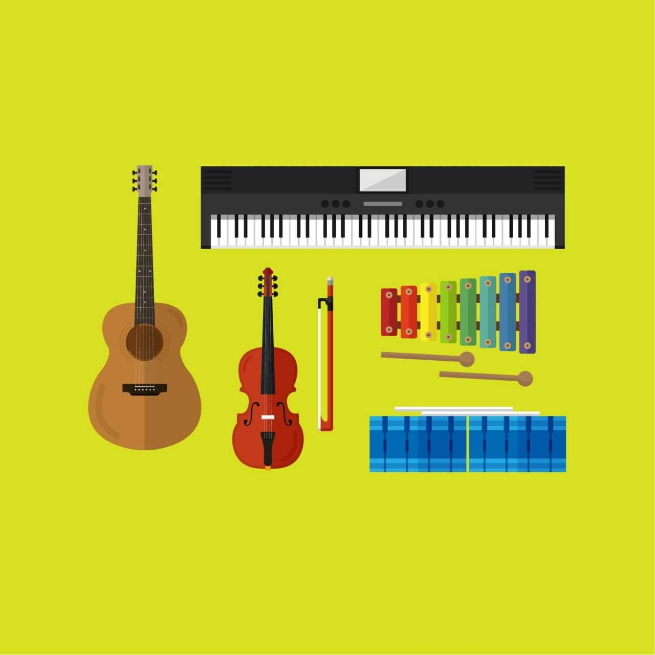 "Free vector ""Musical Instruments """