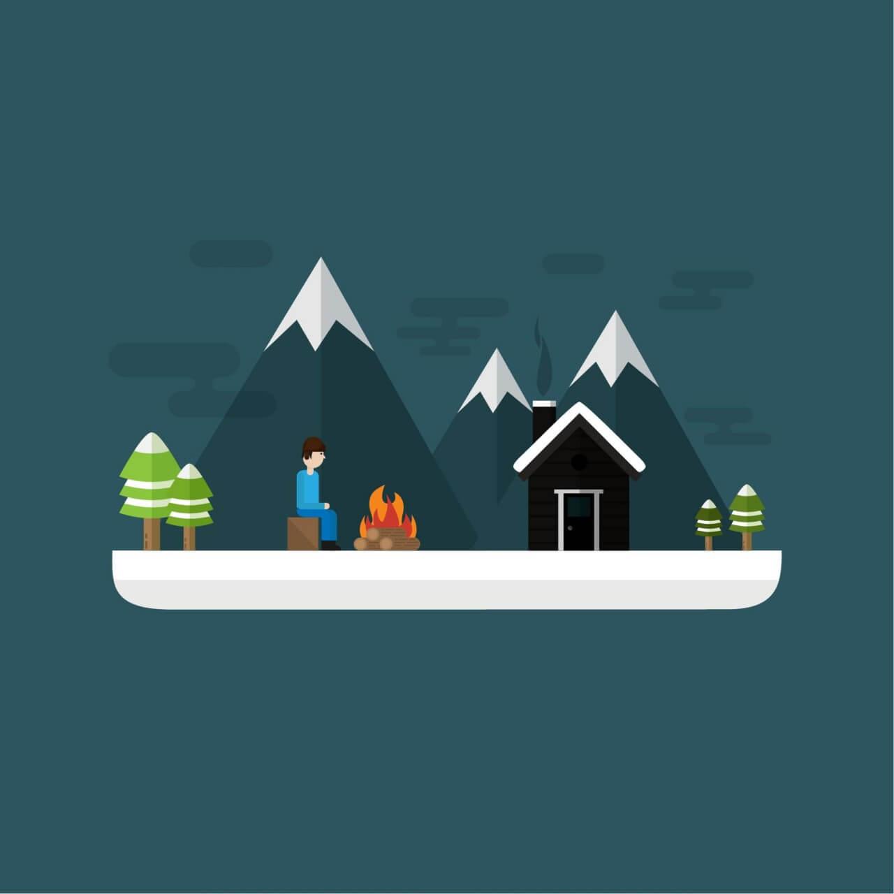 "Free vector ""Winter Scenery """