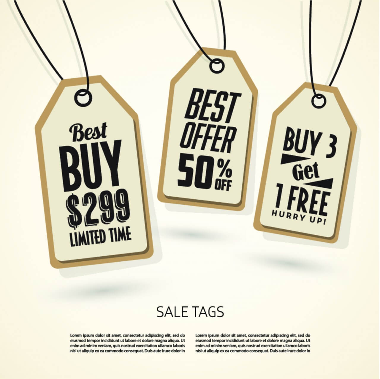 "Free vector ""Sale Tags Design"""