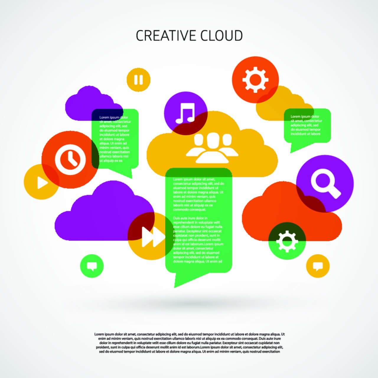 "Free vector ""Creative Cloud"""
