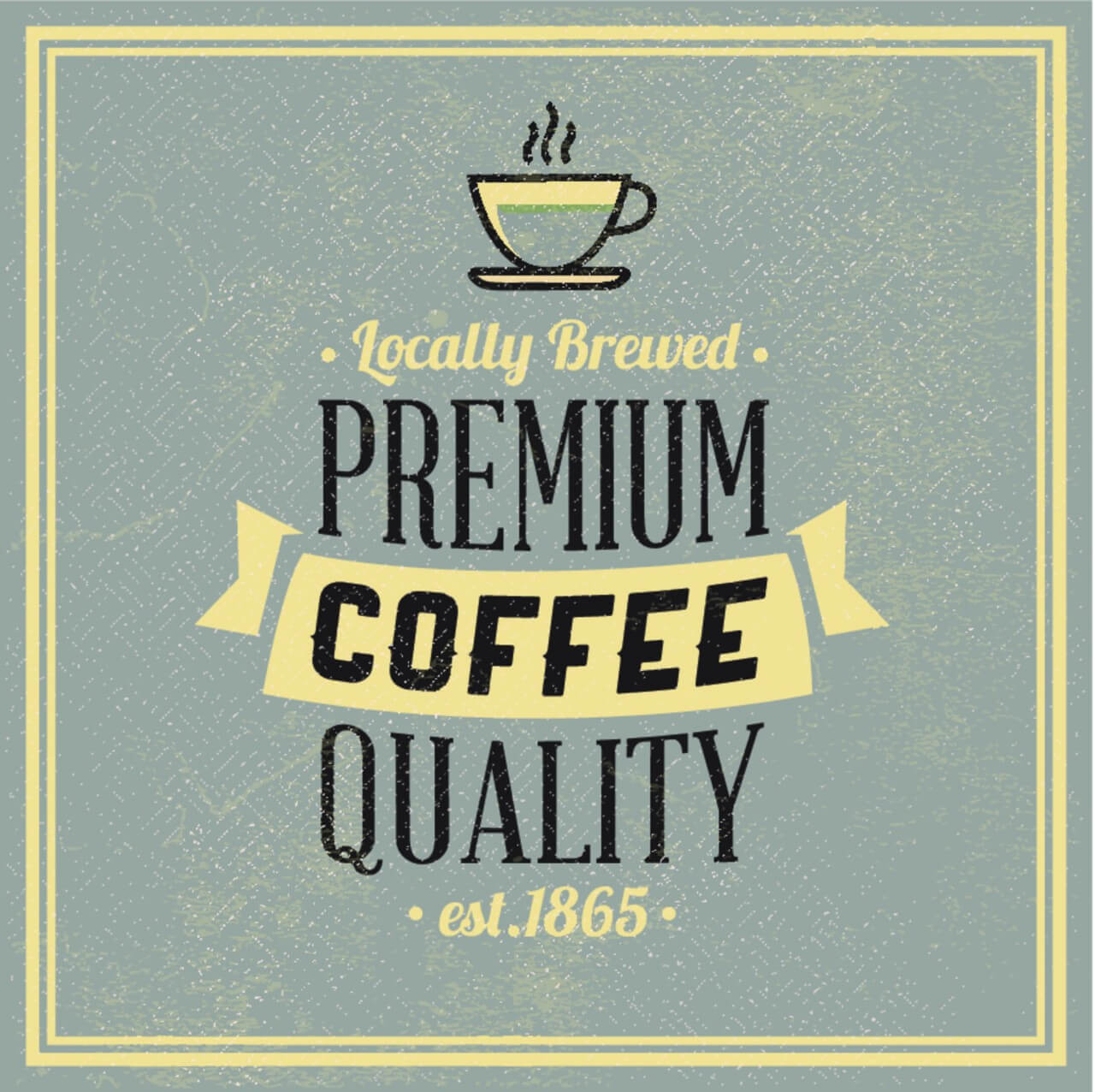 "Free vector ""Retro Vintage Coffee Background with Typography"""