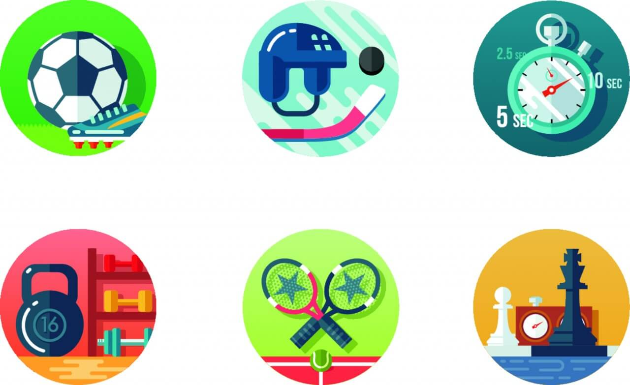 "Free vector ""Sport icon set"""