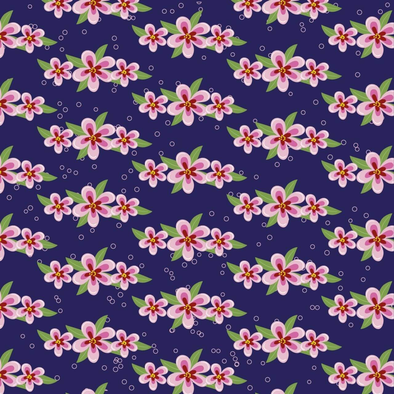 "Free vector ""Japanese patters with flowers"""
