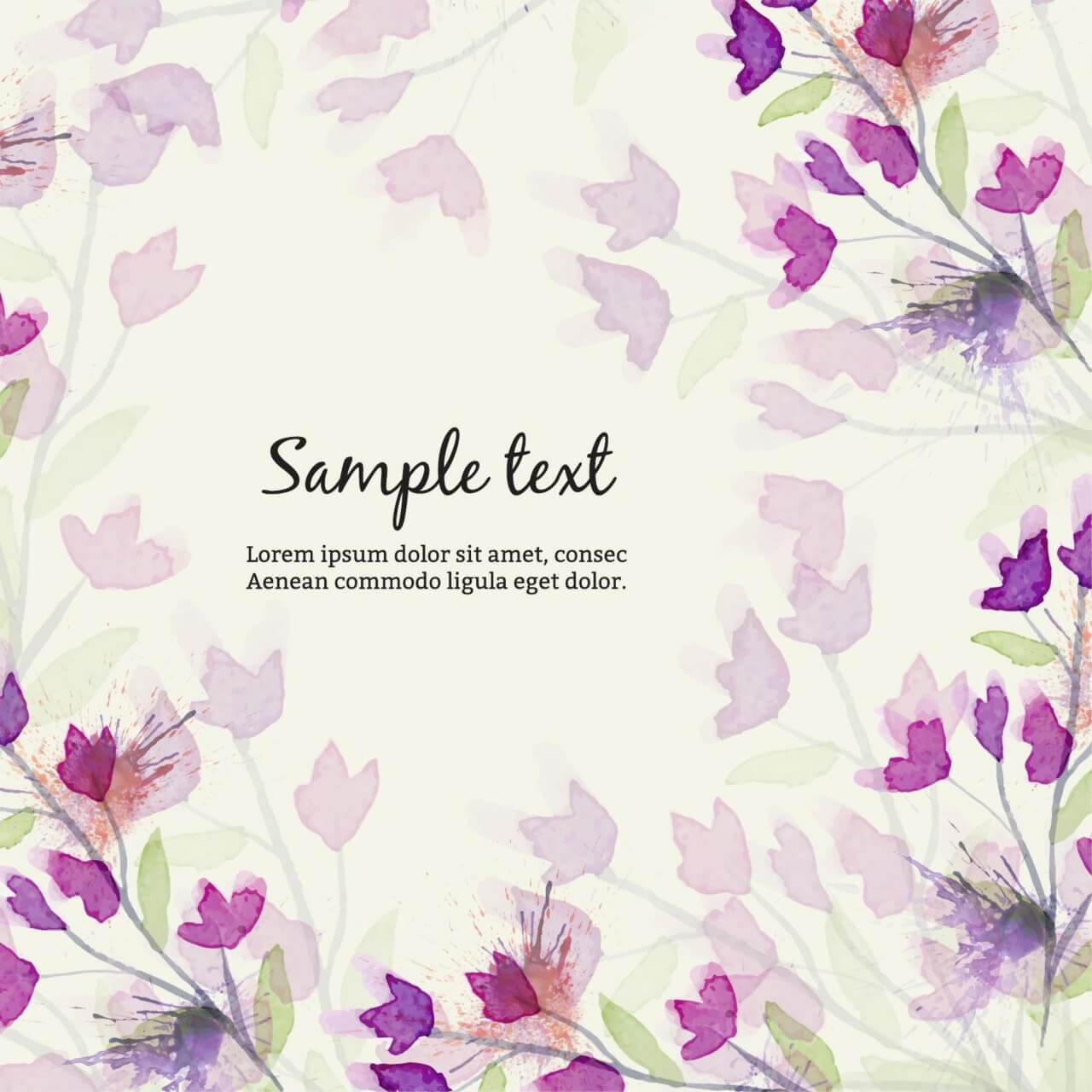 "Free vector ""Watercolor illustration with flowers"""