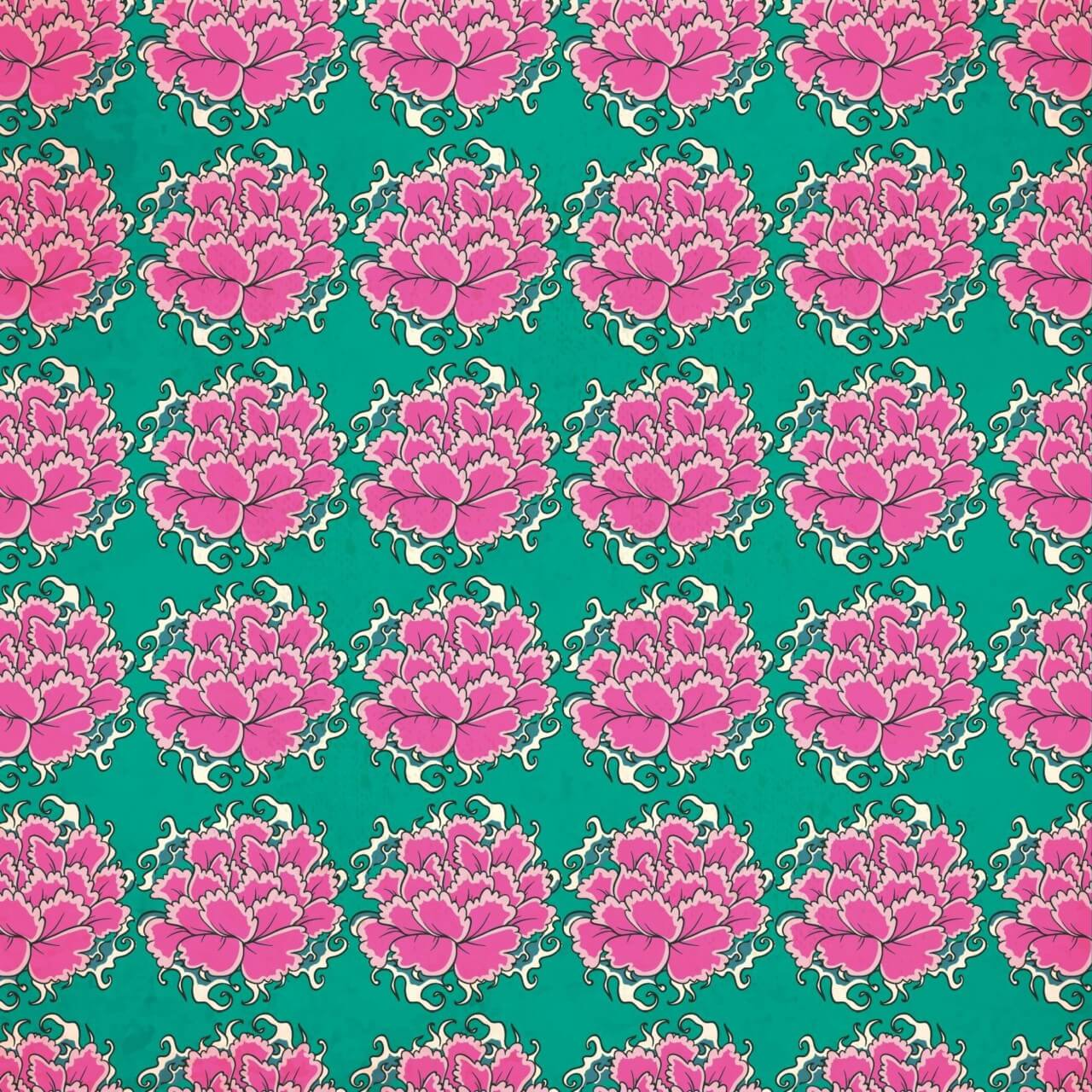 "Free vector ""Vintage japanese pattern with flowers"""
