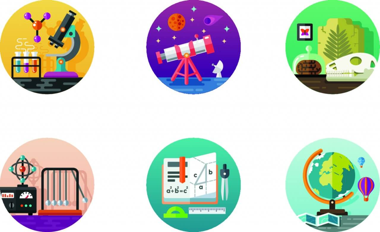 """Free vector """"Science icon pack"""""""