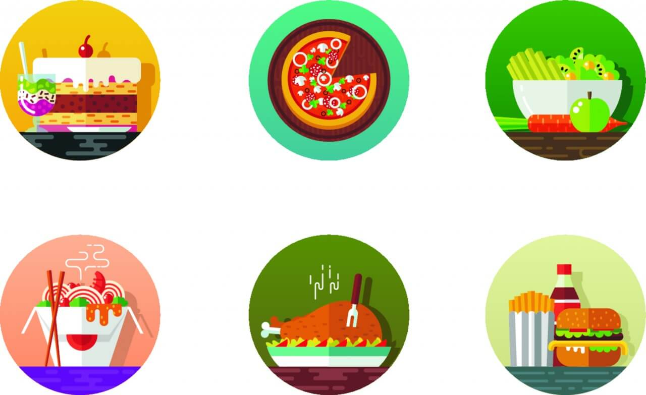 "Free vector ""Food icons"""