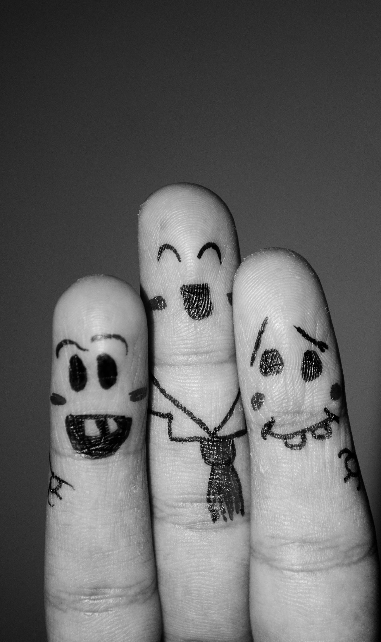"Free photo ""Finger Smileys Friends"""