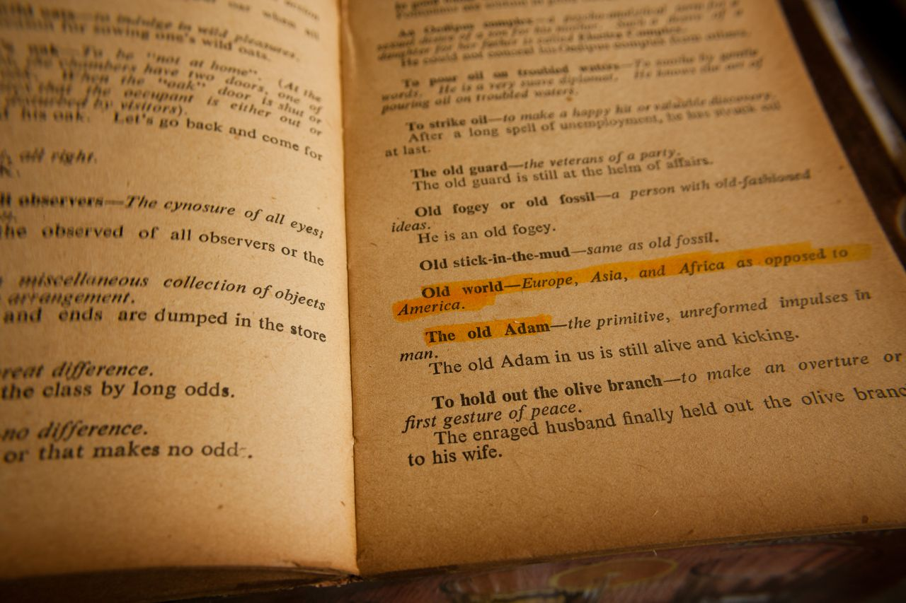 "Free photo ""English Phrases Old Book"""
